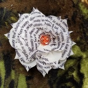 Beauty and the Beast Book Flower Hair Pin
